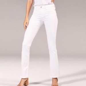 Abercrombie Low Rise Bootcut White Jeans | 28/6S